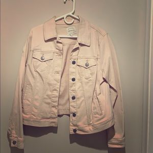Torrid baby pink jean jacket Size 0